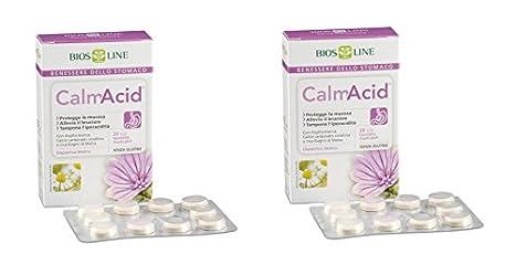 Biosline - calmacid 2 paquetes de 20 Tabletas, iperacidità, gastriti, pirosi: Amazon.es: Salud y cuidado personal