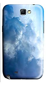 Samsung Note 2 Case Big Fluffy White Clouds 3D Custom Samsung Note 2 Case Cover