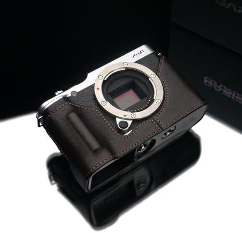 Brown Gariz Genuine Leather HG-XM1BR Camera Metal Half Case for Fujifilm Fuji X-M1 XM1 with Hand Grip