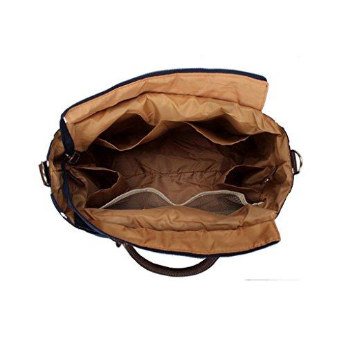 Baby Wickeltasche, Polka Dot Design Yummy Mummy Wickeltasche Schulter Tasche Multifunktions-Frauen Windel Handtasche Staubbeutel mit Wickelunterlage Milch Flasche Halterung Verstellbarer Gurt 6Stück