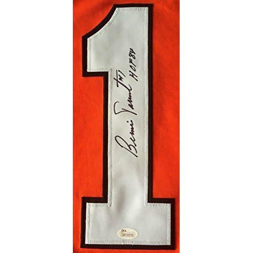 Flyers Bernie Parent Signed HOF Orange Custom Jersey JSA 130583 - Authentic Signed  Autograph 6ec3195dc
