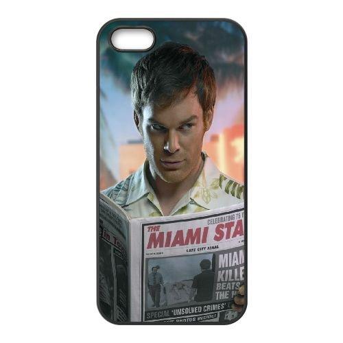 Dexter Actor Michael Hall Newspaper Glance 2012 coque iPhone 5 5S cellulaire cas coque de téléphone cas téléphone cellulaire noir couvercle EOKXLLNCD23192