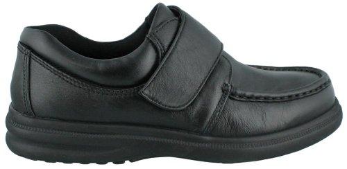 Hush Puppies Men's Gil Black Leather Oxford 12 E - Wide