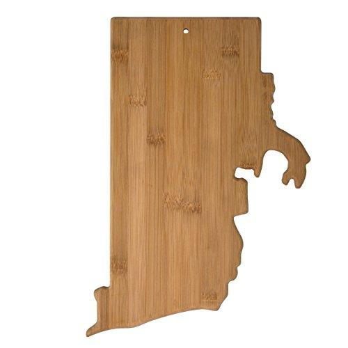 99RI Rhode Island State Shaped Bamboo Serving & Cutting Board ()