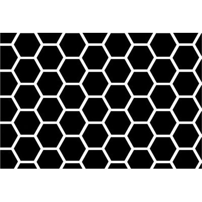 SheetWorld Fitted Cradle Sheet - Black Honeycomb - Made In USA by SHEETWORLD.COM
