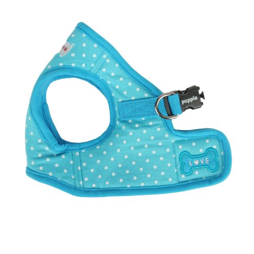 Harness Soft Vest Puppia (Puppia Dotty Harness B, Small, Sky Blue)
