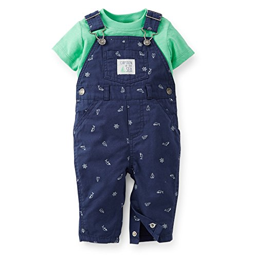 Carter's Boy's 2 Pc Captain Of The Sea Tee & Overalls Set (Newborn)