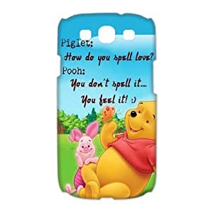 Pink Ladoo? Samsung S3 Case Phone Cover Hard Plastic Winnie the Pooh Piglet