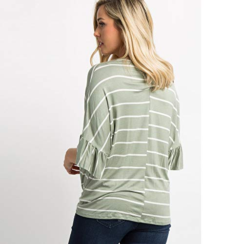 bf72d0d12c296 GoodLock Clearance!! Women Maternity Nursing Tops Casual Pregnant T-Shirt  Striped Bandage Blouse