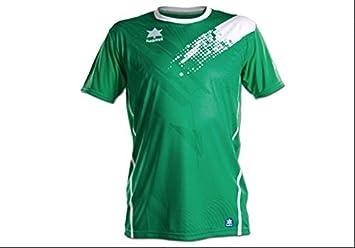 Luanvi - Camiseta Play 07235, Verde/Blanco, XXL