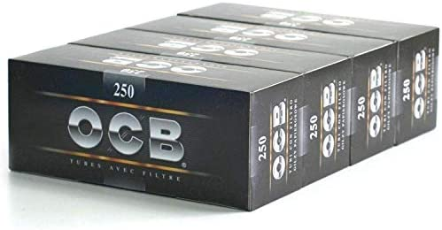 OCB Caja de 250 tubos con filtro para tabaco, 4 unidades: Amazon.es: Hogar
