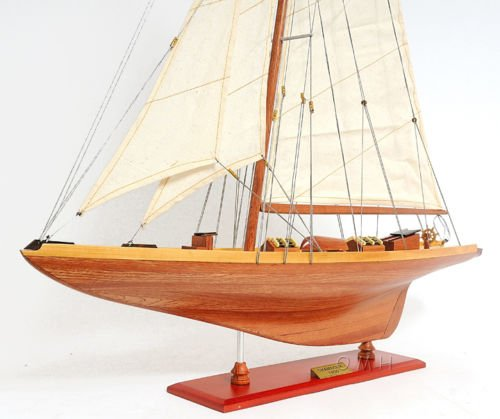 America'S Cup Shamrock V J Class Yacht Wood Model 32