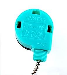 PODOY ZE-268S6 & ZE-208S6 Pull Chain Speed Control Switch for Zing Ear 3 Speed Ceiling Fan