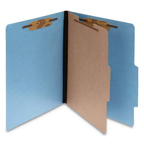 (Presstex Colorlife Classification Folders, Letter, 4-Section, Light Blue, 10/Box, Sold as 10 Each)