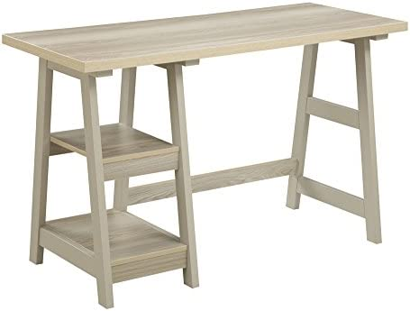 Convenience Concepts Designs2Go Trestle Desk, Weathered White