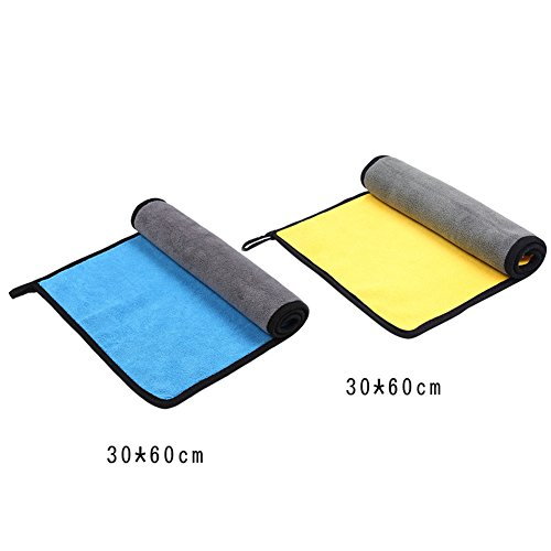 AODEW Microfiber Car Cleaning Towel Vehicle Cleaning Accessories Multipurpose Wash Cloth High Absorbent Lint-Free Streak-Free for Car Home Kitchen Furniture by AODEW