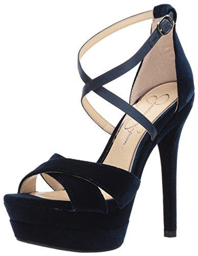 Jessica Simpson Women's Roxelle Heeled Sandal, Acai, 8.5 Medium US