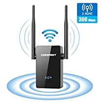 WiFi Range Extender, COMFAST 300Mbps WiFi Range Extender Signal Booster 2.4GHz Wireless Repeater with External Antennas, Router/Repeater/Access Point Mode, WPS