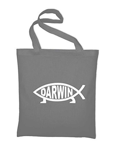 In And Fabric Styletex23bagdarwin8 Cotton Darwin Bag Bag Evolution Jute Light Science Fish Yellow Grey Case yellow qOw8wzgt
