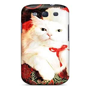 Hot Style BIp4027Taev Protective Case Cover For Galaxys3(cat By The Christmas Tree)
