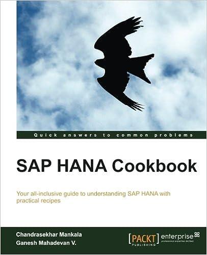 SAP HANA Кулинарная книга