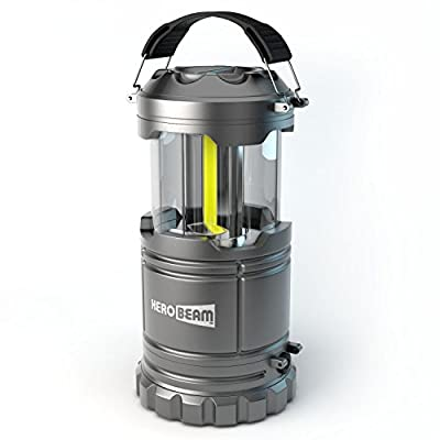 HeroBeam LED Lantern V2.0 with Flashlight - 2016 COB Technology emits 300 LUMENS! - Collapsible Tough Lamp - Great Light for Camping, Car, Shed, Attic, Garage & Power Cuts - 5 YEAR WARRANTY