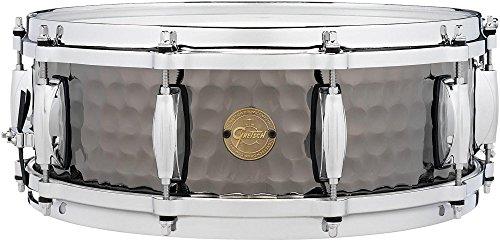 Gretsch Drums Hammered Black Steel Snare 14 x 5 in. by Gretsch Drums