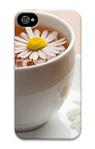 Chamomile Tea PC Case for iphone 4S/4
