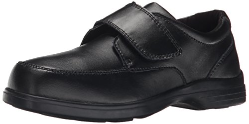 Hush Puppies Gavin Uniform Dress Shoe (Toddler/Little Kid/Big Kid), Black, 1 M US Little ()