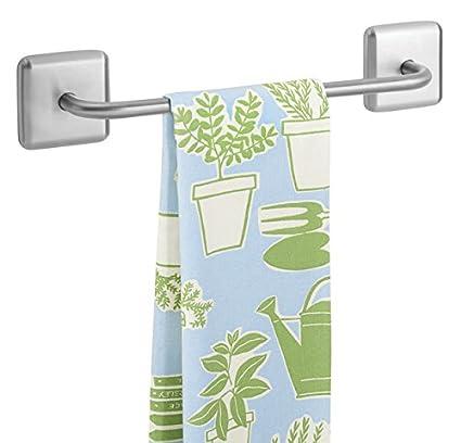 mDesign Toallero sin talado AFFIX – Perchero adhesivo, ideal para paños de cocina o toallas