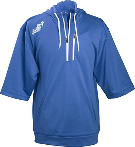 Majestic Pullover - Rawlings Men's Short Sleeve Hoodie, Royal Blue, X-Large