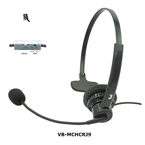 - Professional Single Ear Noise Canceling Office/Call Center Headset with RJ9 Quick disconnect Cord Works with Cisco, Avaya, Polycom, Mitel, Yealink, Grandstream, NEC, Nortel, Shoretel, Allworx & more