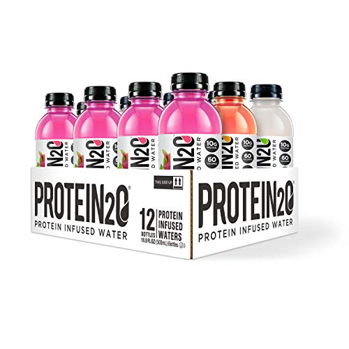 Protein2o Low Calorie Protein Infused Water, 10g Whey Protein Isolate, Variety Pack 16.9 Oz, Pack Of 12