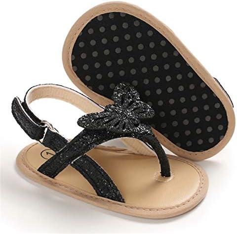 41BDyNu76zL. AC - COSANKIM Infant Baby Girls Summer Sandals With Flower Soft Sole Newborn Toddler First Walker Crib Dress Shoes