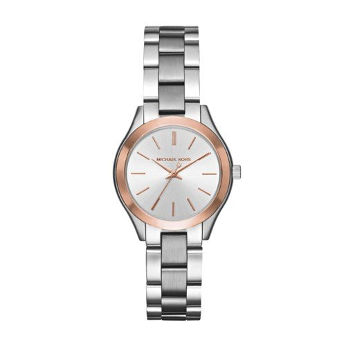 Michael Kors Women's Mini Slim Runway Silver-Tone Watch - Silver Michael