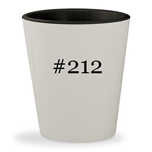 #212 - Hashtag White Outer & Black Inner Ceramic 1.5oz Shot - Miller Glasses Mac