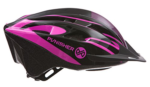Punisher-Skateboards-Punisher-Womens-18-Vent-Cycling-Helmet-with-Abs-Shell-Detachable-Visor