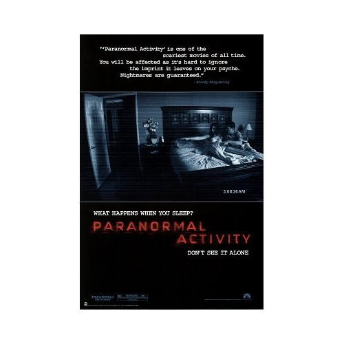 Paranormal Activity Poster Don't Watch It Alone