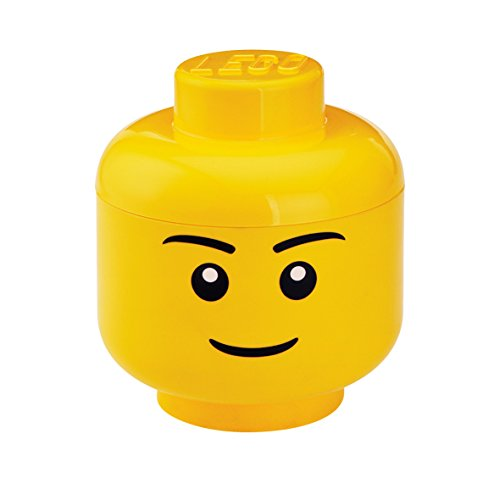LEGO Storage Head Large, Boy, Yellow