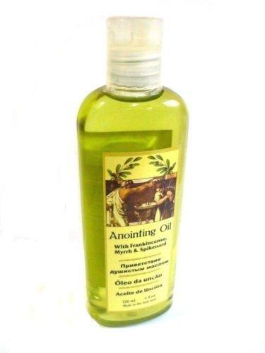 Anointing Oil Frankincense Myrrh & Spikenard Authentic 120 Ml 4 Fl.oz Holy Land by Handmade In Nazareth Jerusalem & Bethlehem HOLY LN
