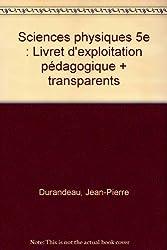 Sciences physiques 5eme : transparents