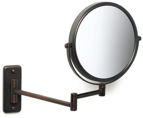 Bronze Wall Mirror: Jerdon JP7506BZ 8-Inch Wall Mount Makeup Mirror With 5x