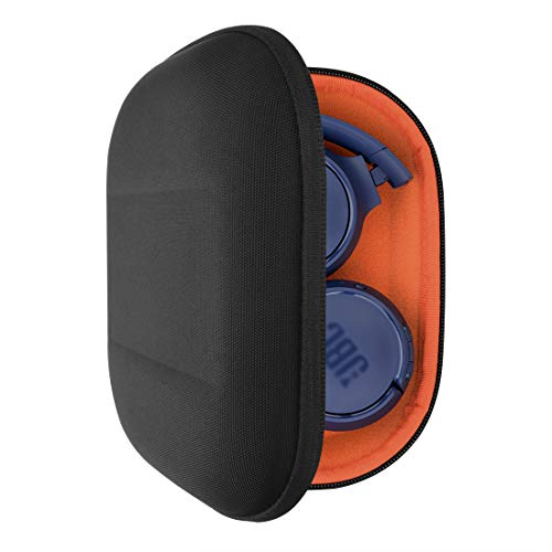 Geekria UltraShell Headphones Case for JBL Tune 600 BTNC, Live 400BT, Tune 500BT, T450BT, E45BT Headphone and More, Protective Hard Shell Travel Carrying Bag with Room for Accessories (Black) (450 Carrying Case)