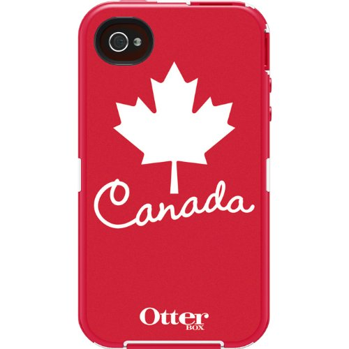 OtterBox Defender Series Anthem Collection Case for iPhone 4/4S - Retail Packaging - Canada Flag (Discontinued by Manufacturer)