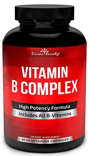 Super B Complex Vitamins – All B Vitamins Including B12, B1, B2, B3, B5, B6, B7, B9, Folic Acid – Vitamin B Complex Supplement for Stress, Energy and Healthy Immune System – 90 Vegetarian Capsules Review