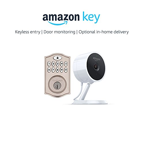 Kwikset SmartCode 914 Keypad Smart Lock in Nickel + Amazon Cloud Cam, works with Amazon Key