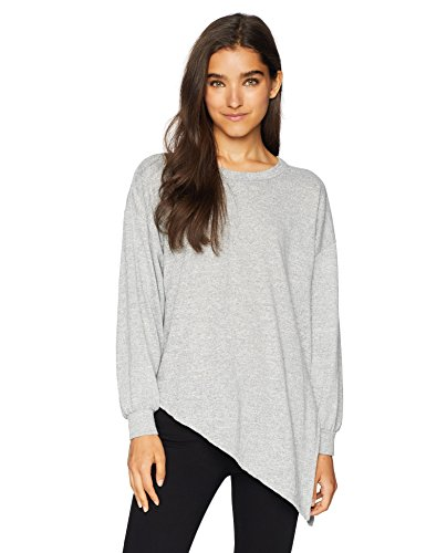 O'Neill Women's Flores Knit Pullover Top, Heather Grey, S by O'Neill