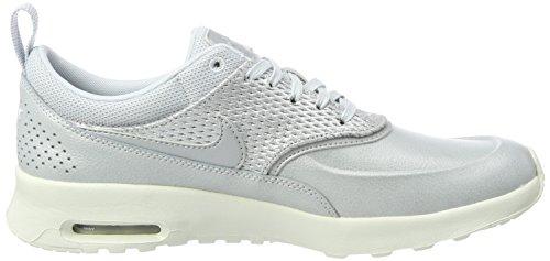 Leather Thea Platinum Plateado Zapatillas Air Pure para Platinum Nike MAX Mujer Premium Metallic xZRSqaH