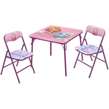 Paw Patrol Girls' 3-Piece Table and Chairs Set - Video Conference Carts