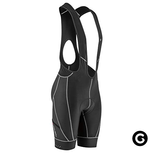 Louis Garneau Men's Optimum Cycling Bib Shorts, Padded and Breathable, Black, Large